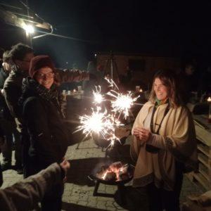Silvesterfeier: Spritzkerzen zu Mitternacht