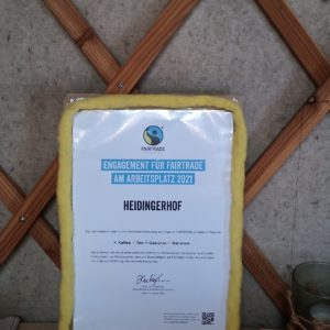 Fairtrade Urkunde 2021