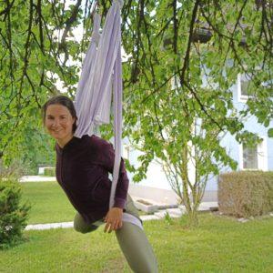 Sarah beim Fliegen